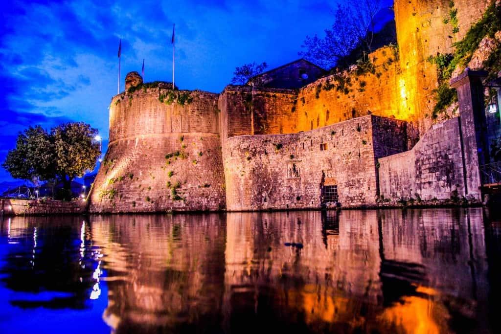 Old Town Kotor at night