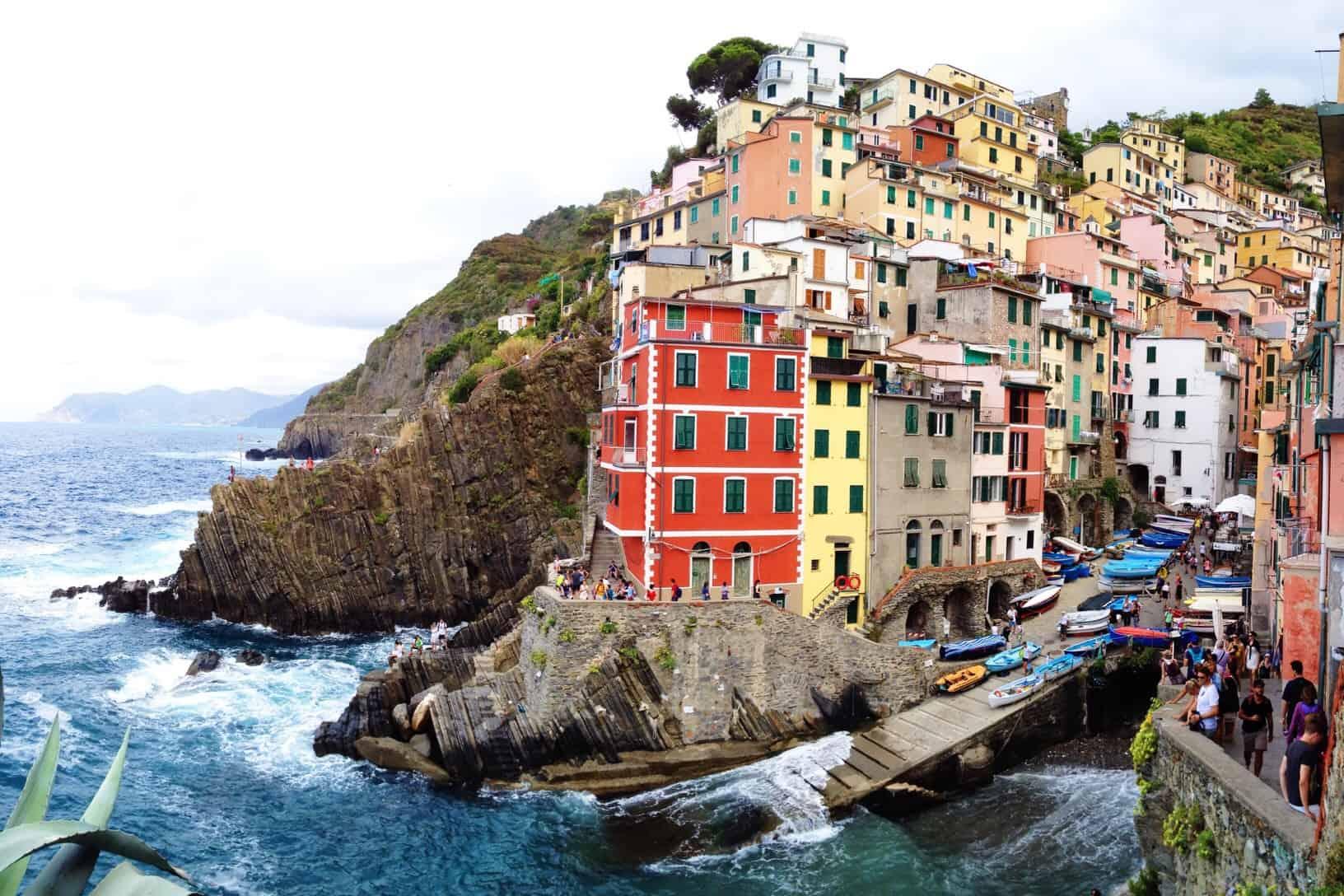 Cinque Terre town on the sea