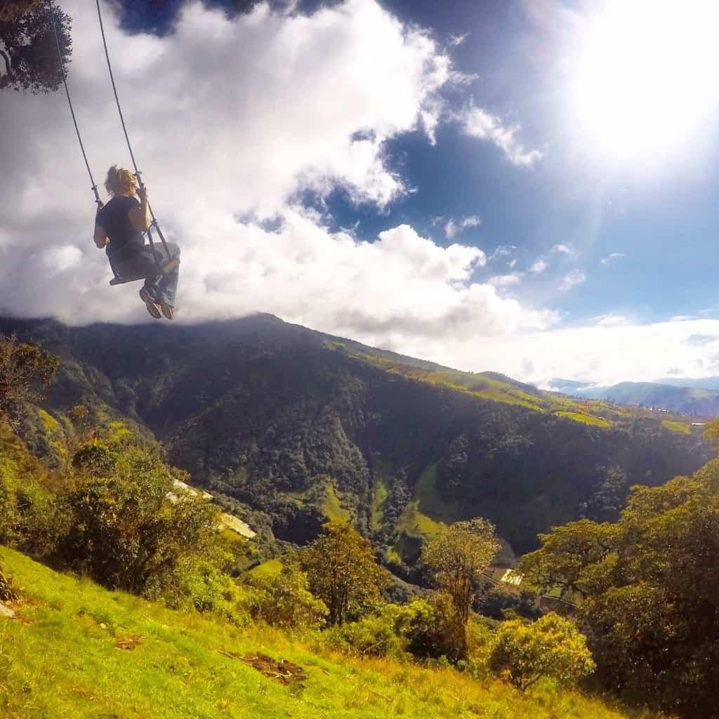 ecuador backpacking route in Banos