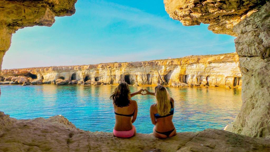 Cape Greko while visiting cyprus