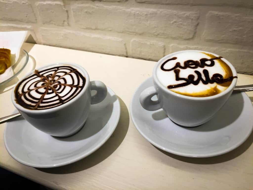 Cappuccinos in Italy