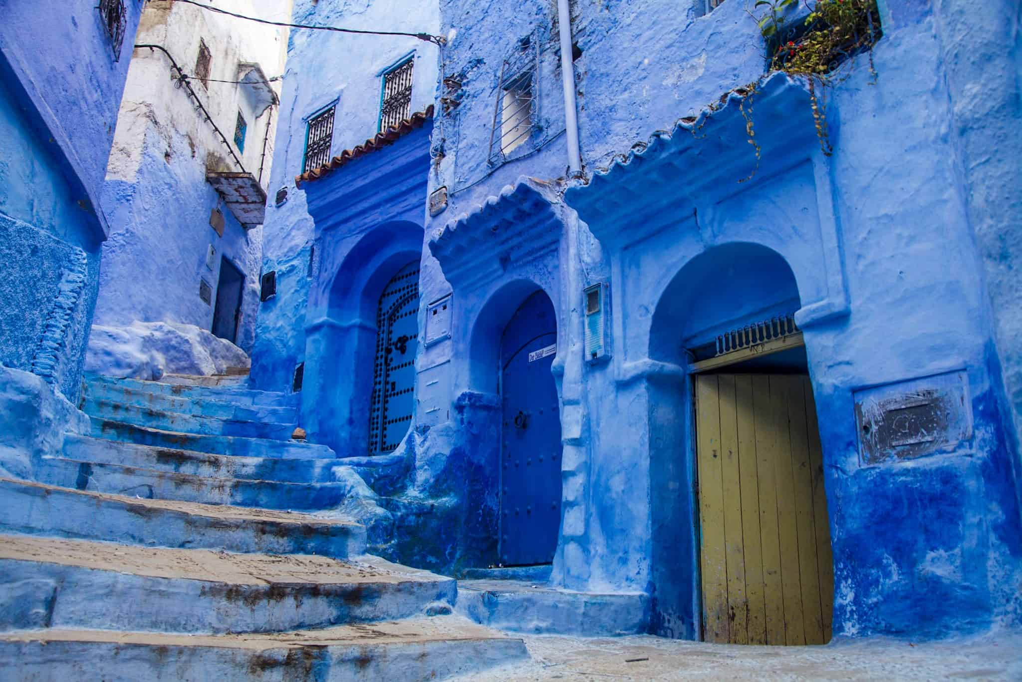 moroccan blue paint finding peace within chefchaouen