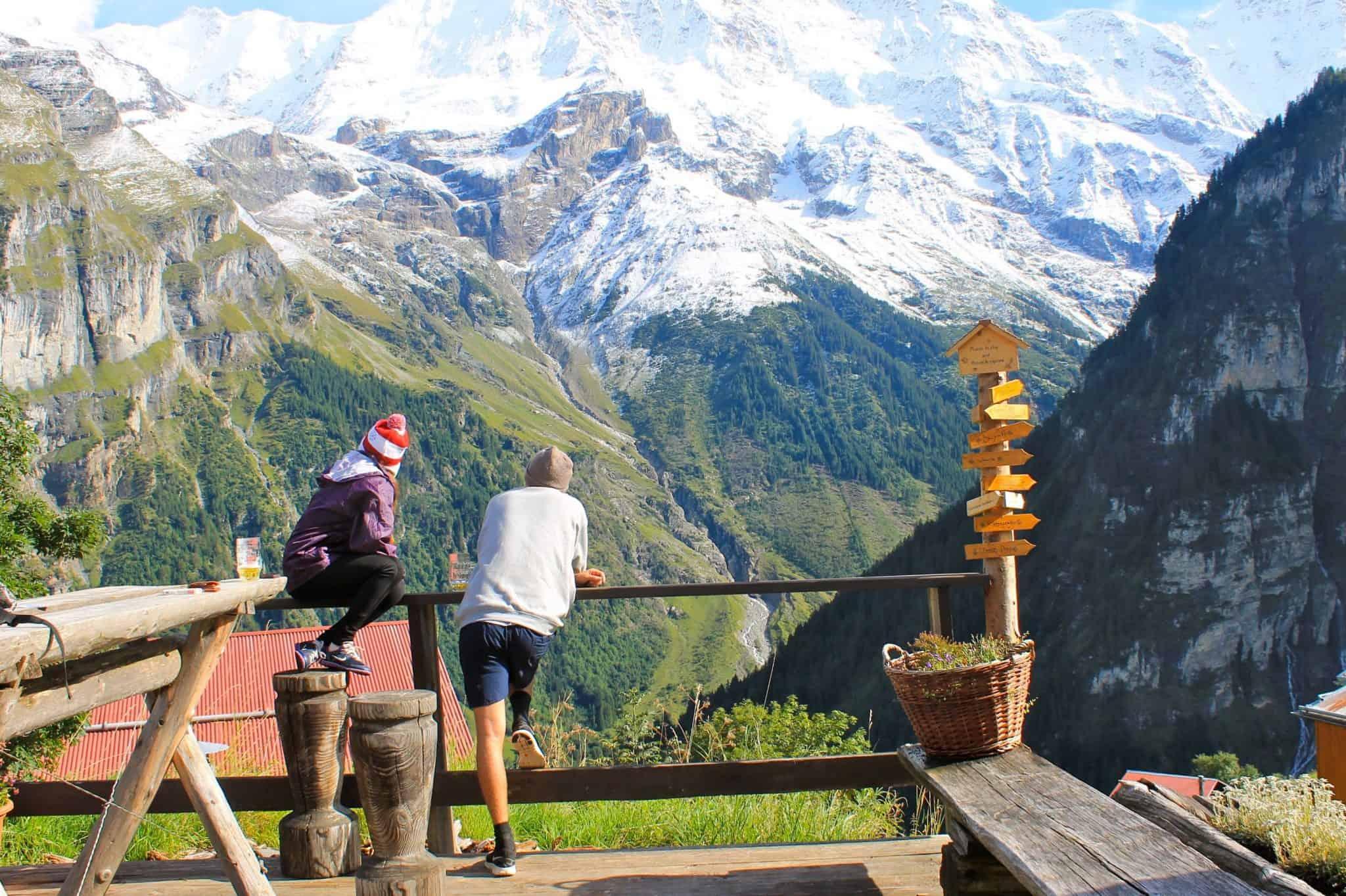 The view in Switzerland