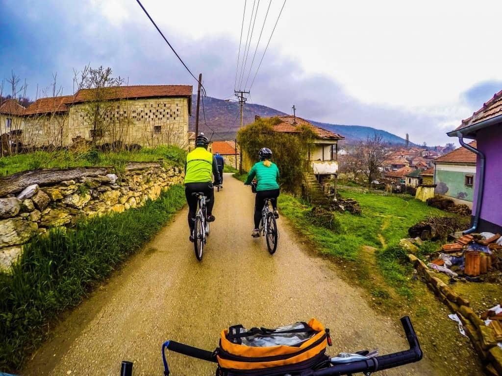 Cycling Through Serbian countryside