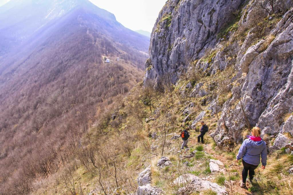 Hiking above the Serbian Countryside in Balkan Mountains