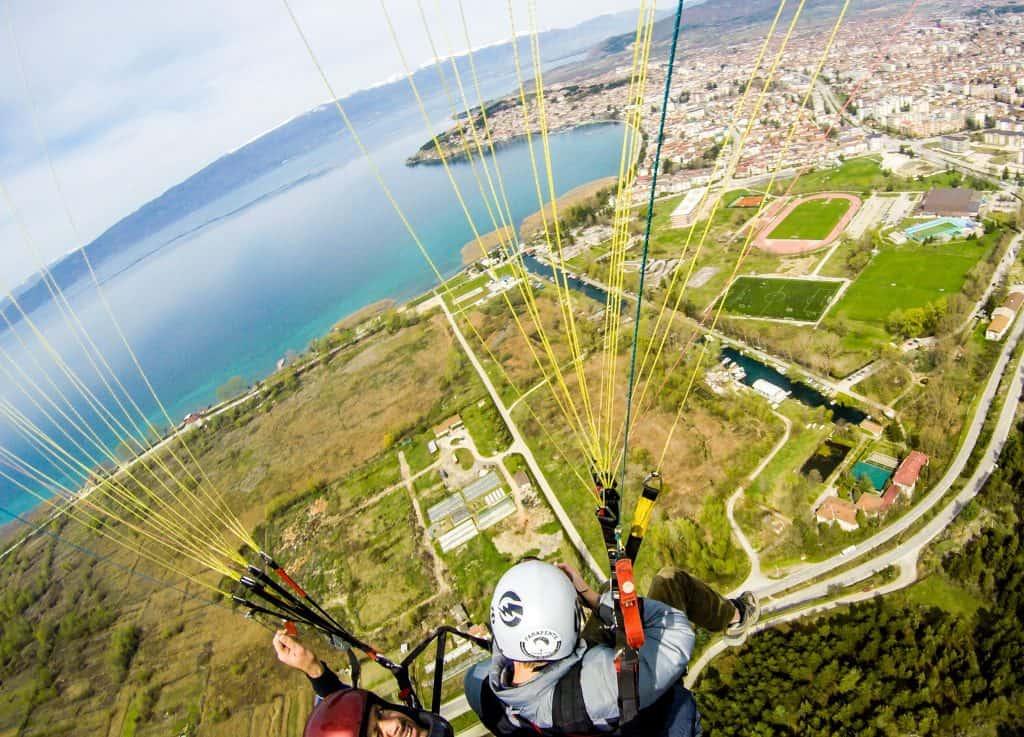 Paragliding over Ohrid