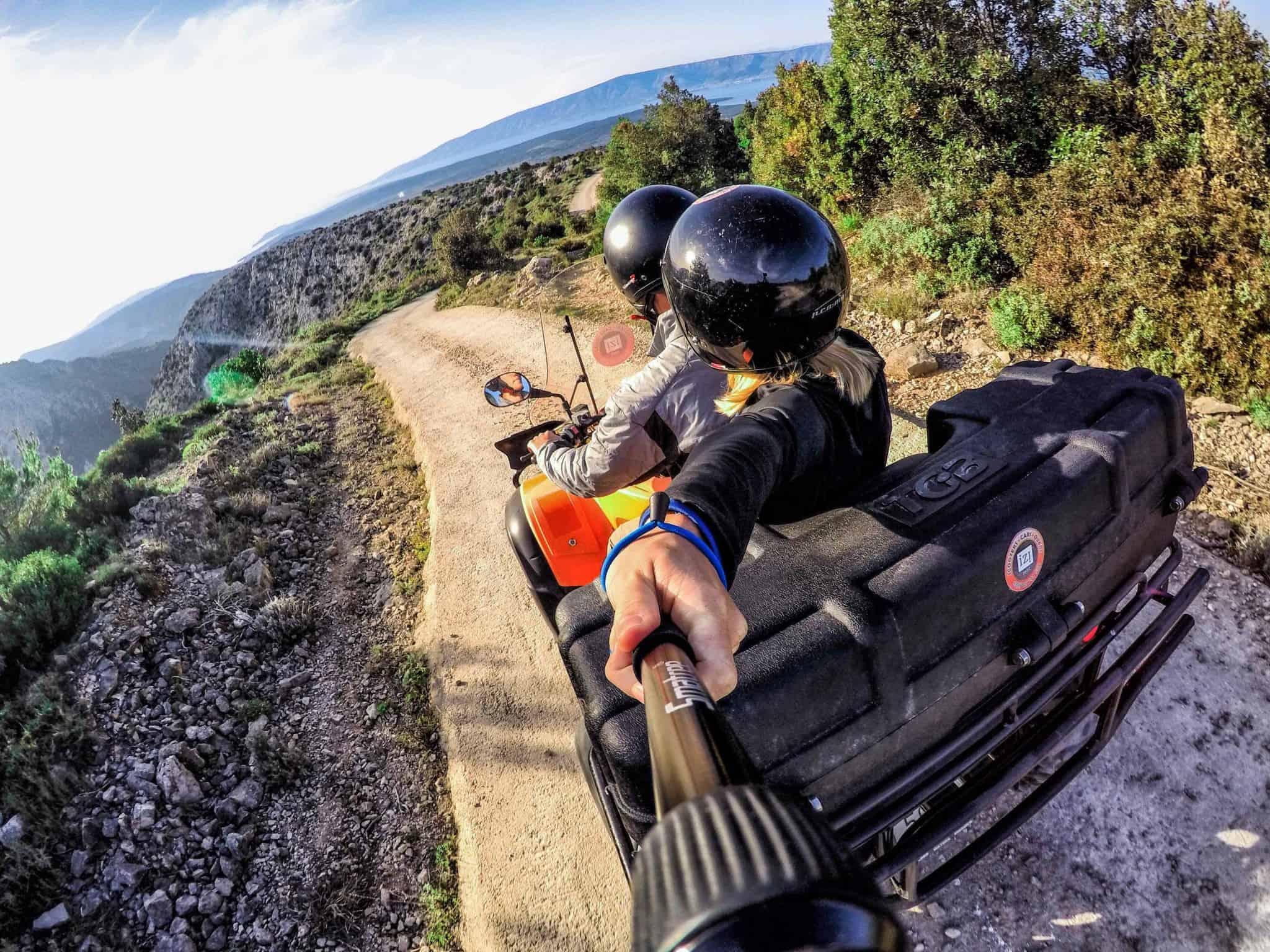 Riding around in Hvar