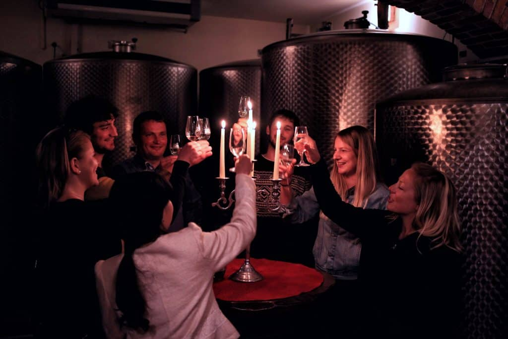 Wine in Slovenian cellar, Balkan Travel