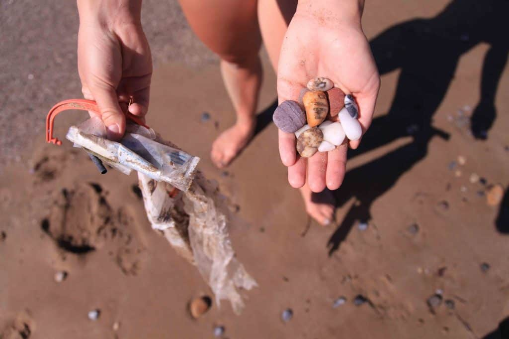 Eco Friendly Products Plastic vs Pebbles