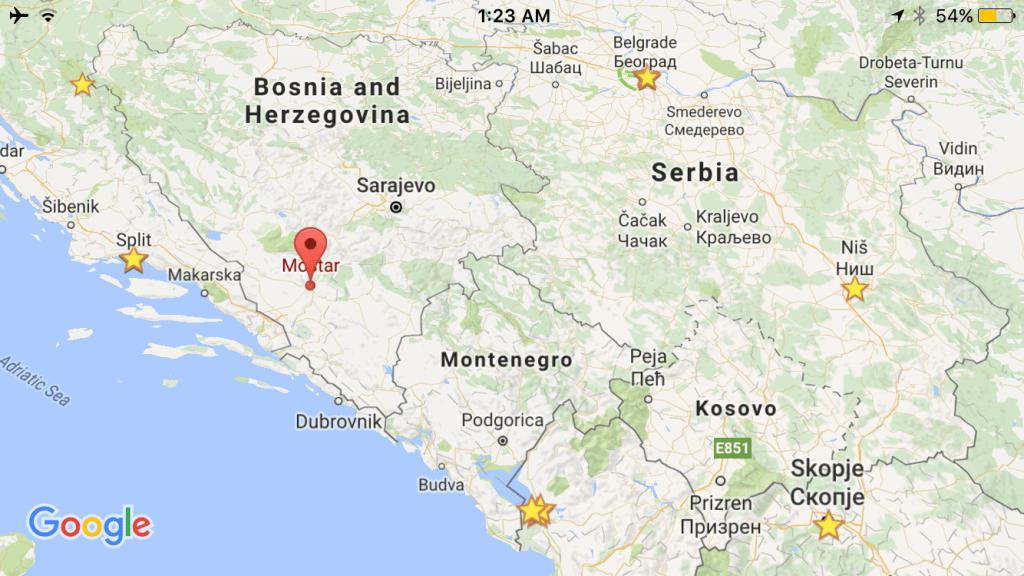Maps in Balkans