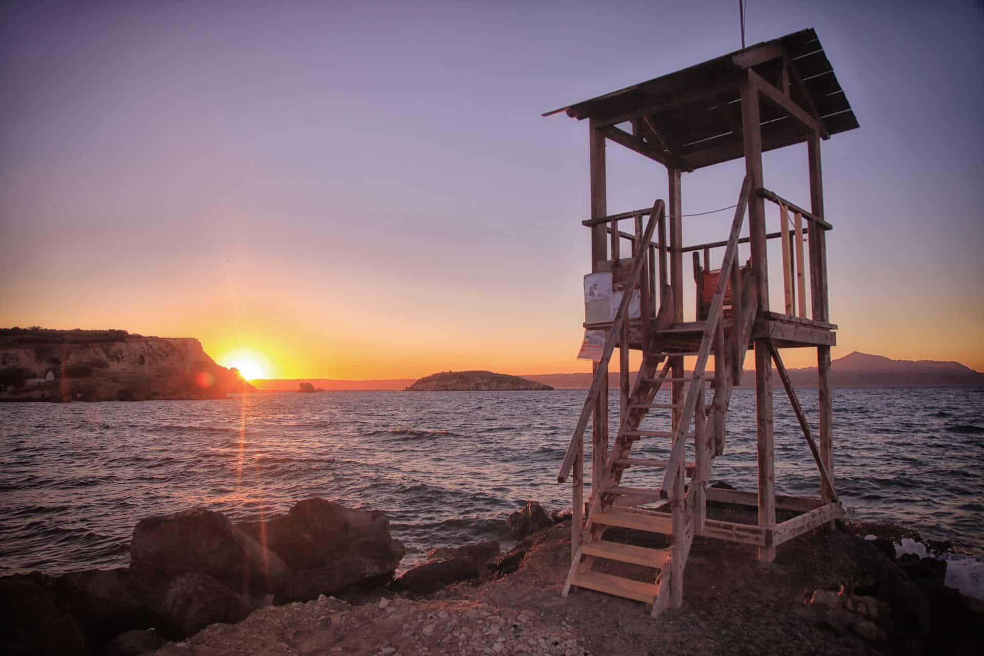 Sunset Lifeguard Station Crete