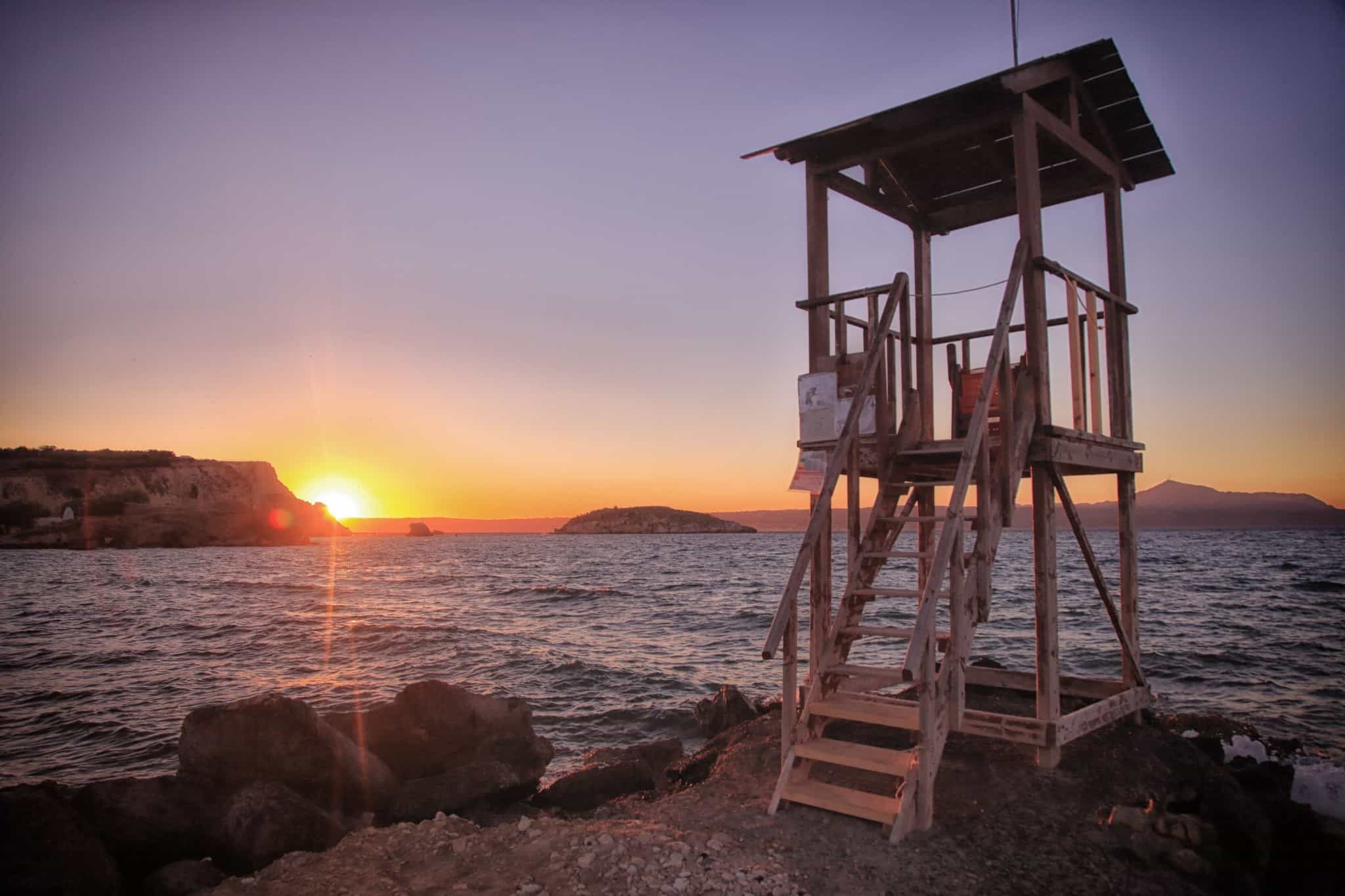 Sunset Lifeguard Station Crete