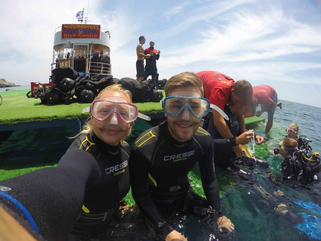 Diving with waterhoppers