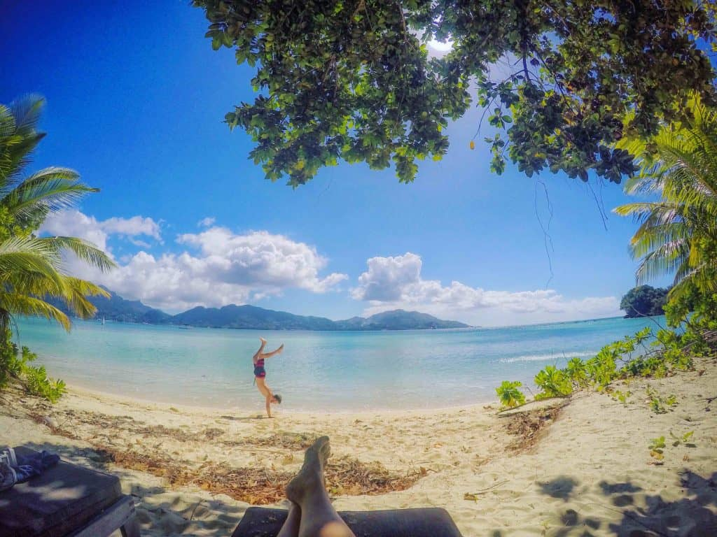 Handstands and such in The Seychelles