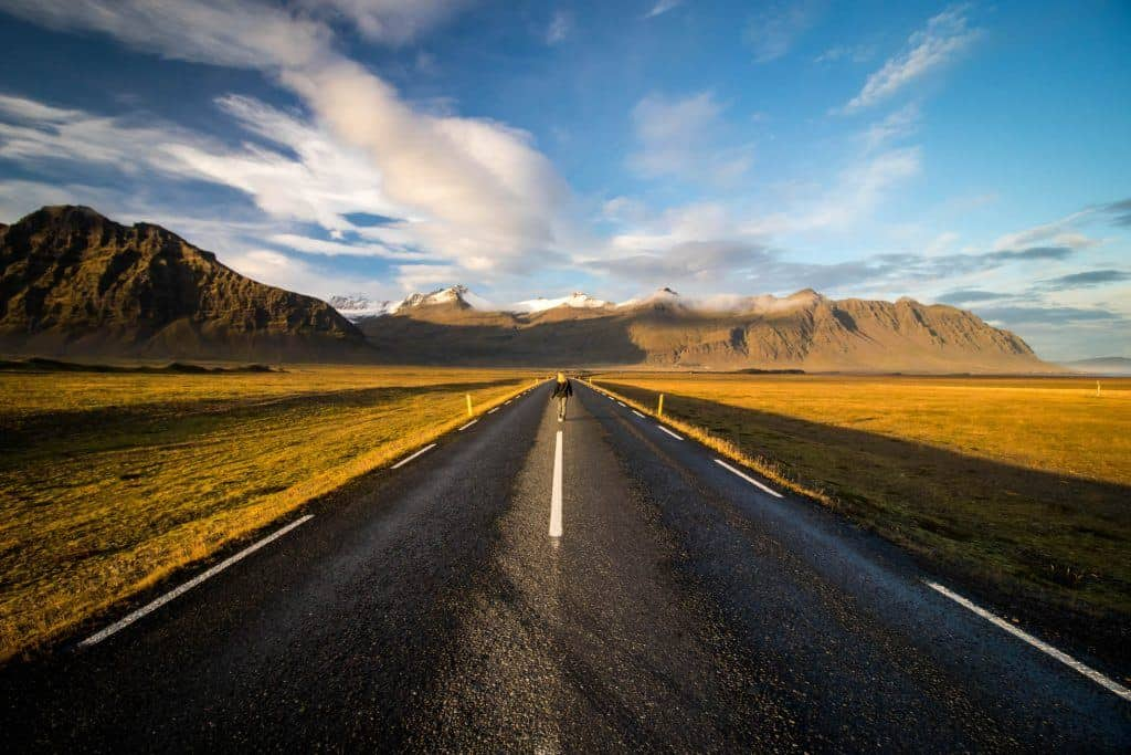 on Iceland's ring road
