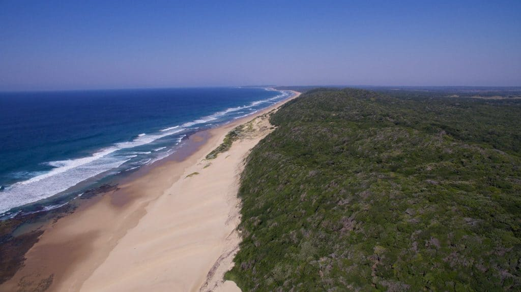 Beautiful Anvil Bay and the Mozambican Coastline