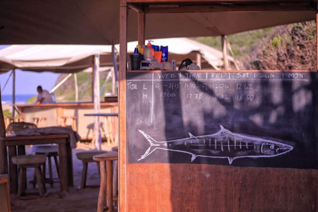 Chalk Board Anvil Bay Mozambique