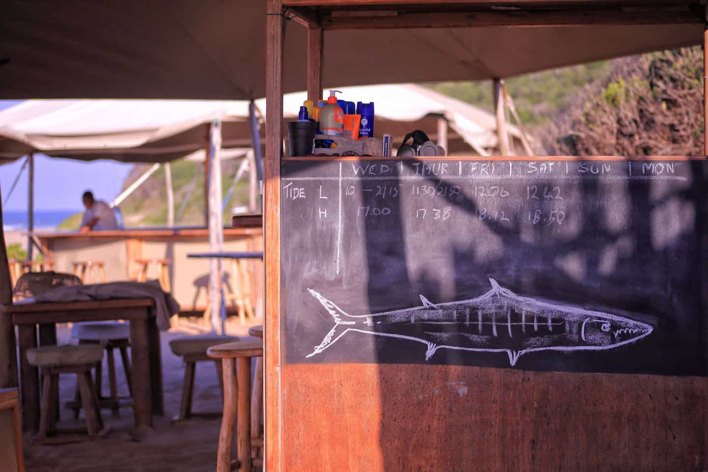 Chalk Board Anvil Bay Mozambique