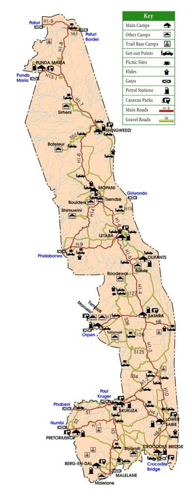 Kruger National Park Map Kruger Park Guide