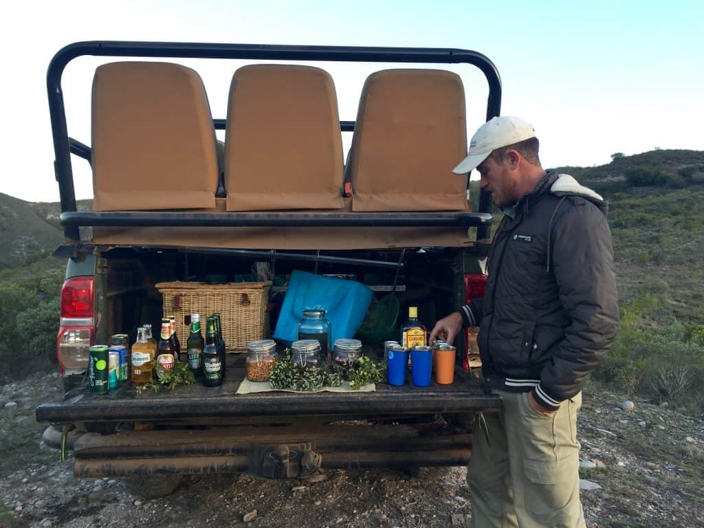 It's not all about ecotourism in South Africa. It's about the bush drinks!
