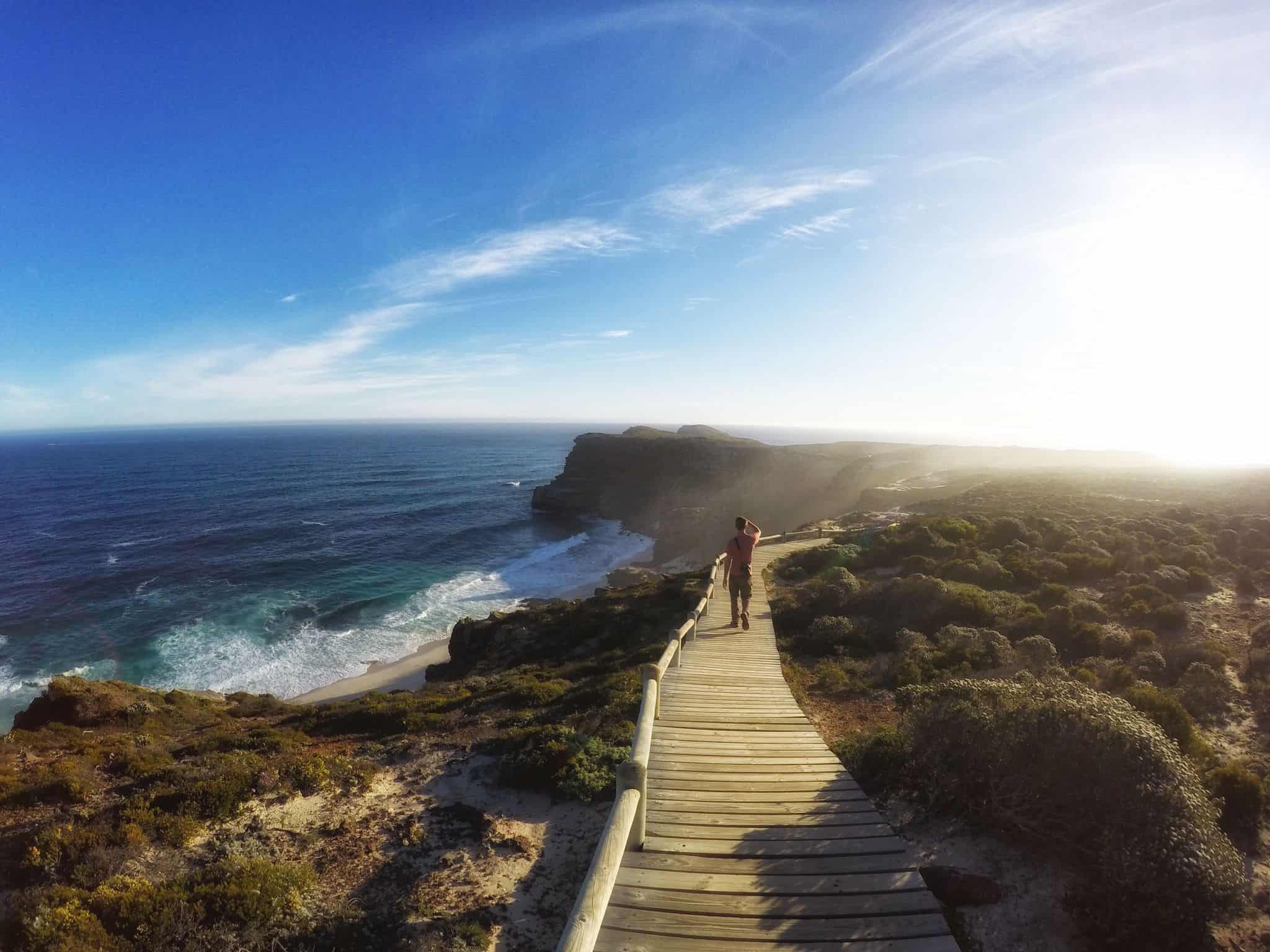 The view from Cape Point, South Africa.