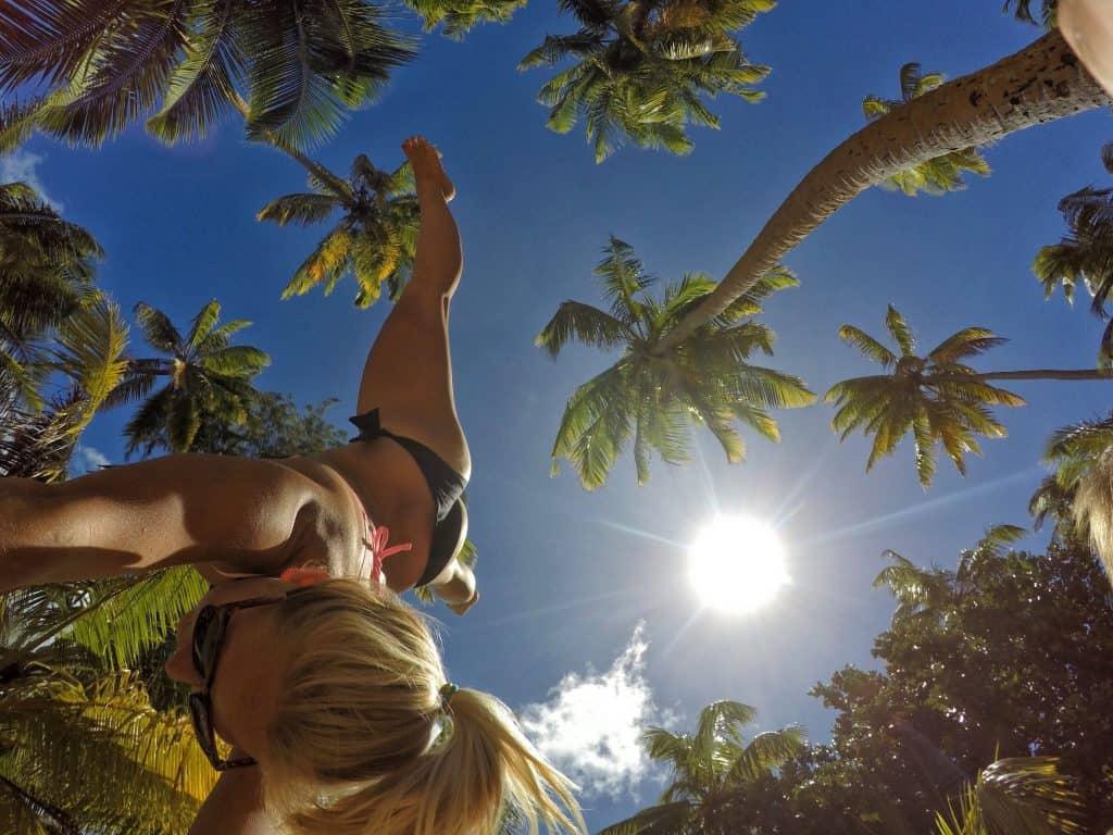 Cartwheels in The Seychelles