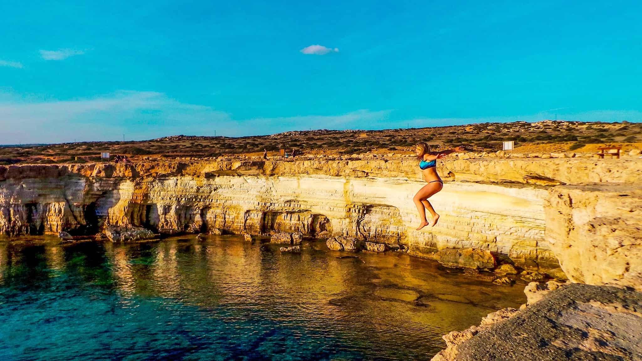Cyprus Cliff Jump