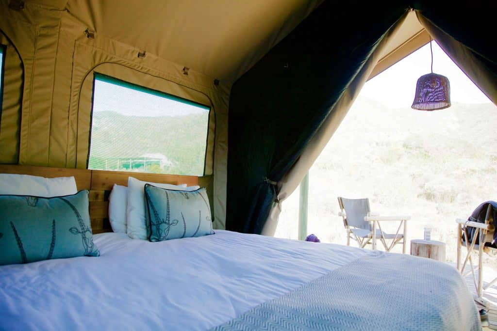 Inside the Tent at Gondwana Eco Camp