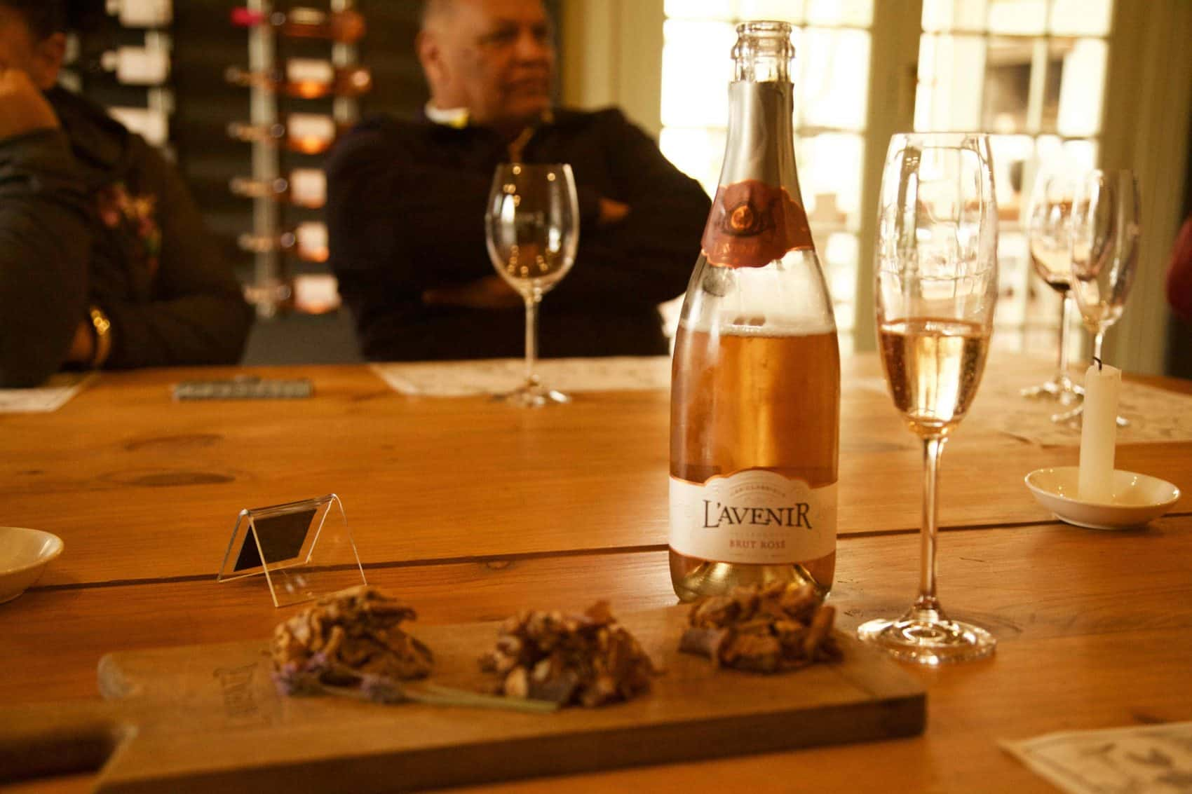 biltong and Wine at Lavenir