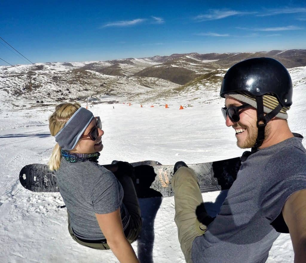 Snowboarding at Afriski