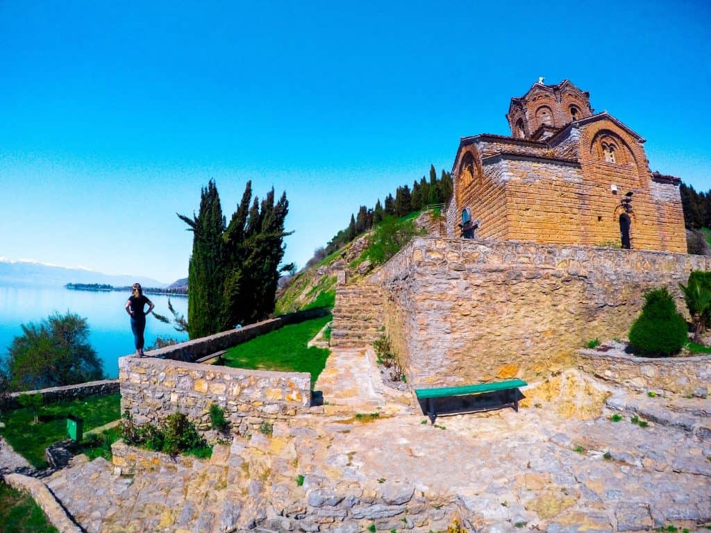Beautiful Lake Ohrid in Macedonia