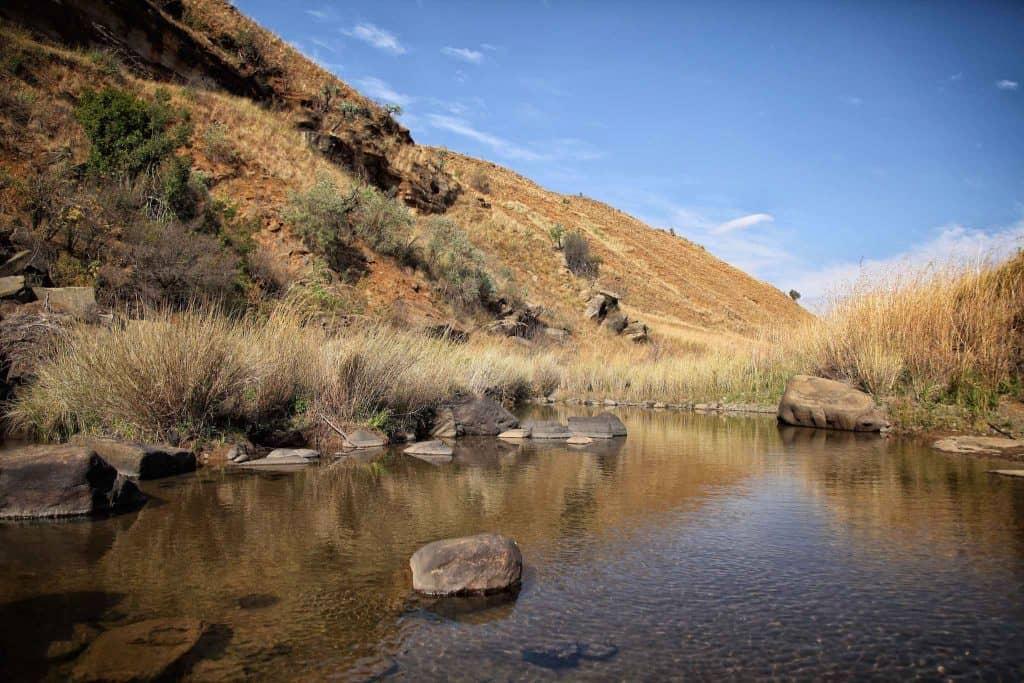 River Stream Drakensberg Mountains