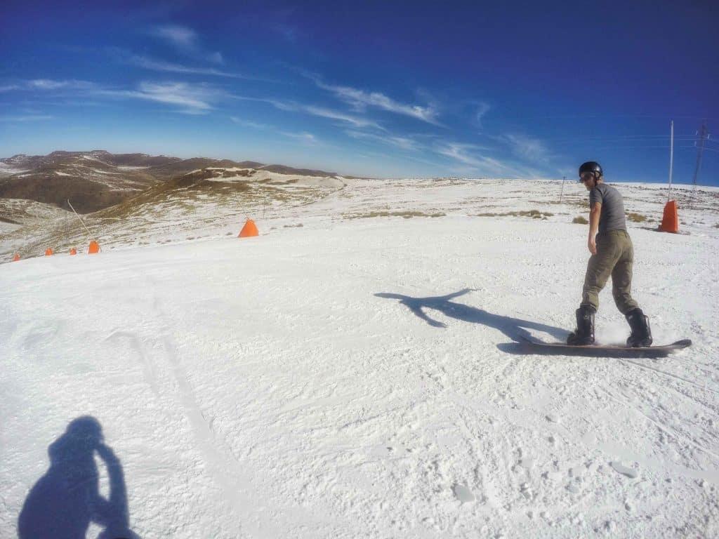 Snowboarding in Lesotho