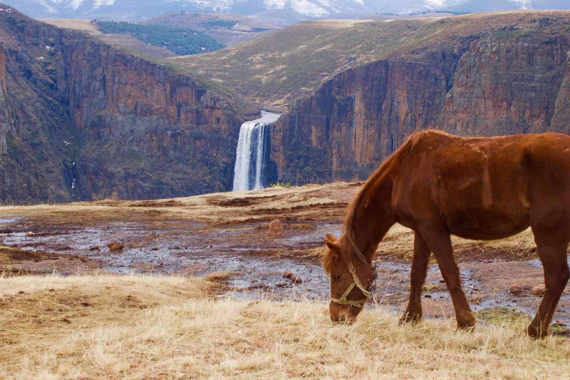 Waterfalls in Lesotho - maletsunyane fall
