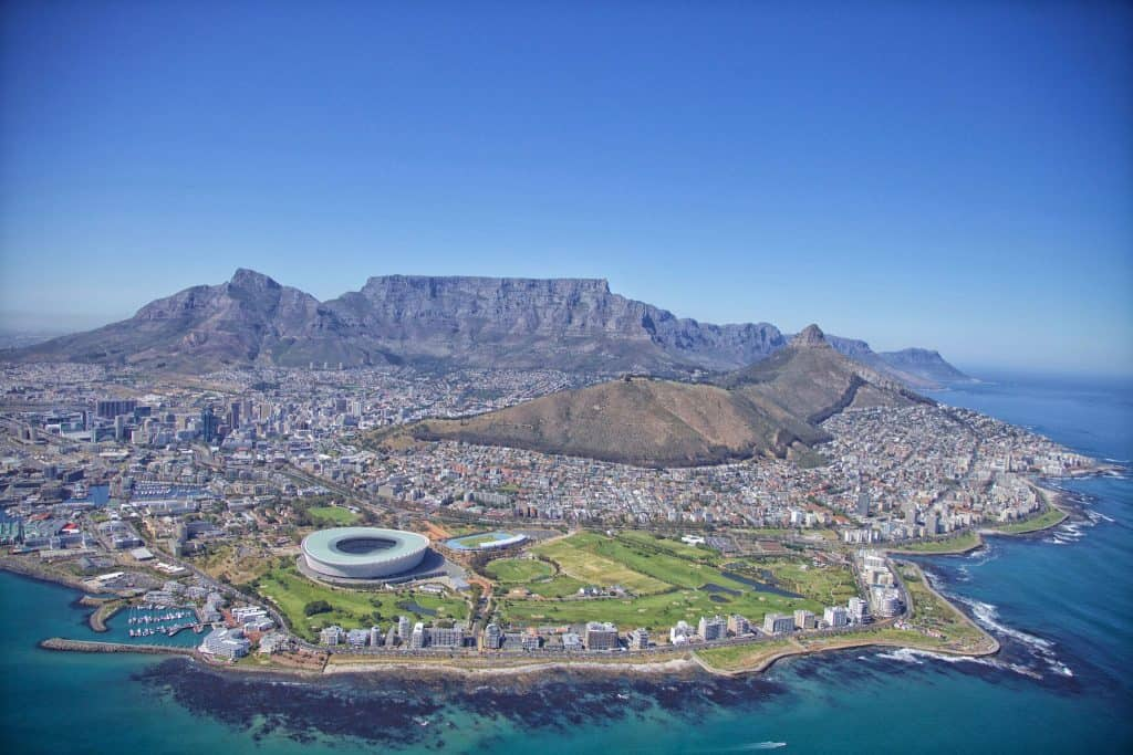View of Cape Town with NAC Helicopters
