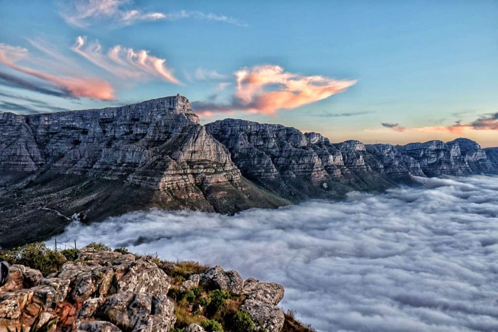Beautiful Table Mountain with Clouds