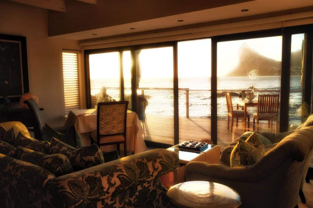 the-lobby-of Tintswalo Atlantic at-sunset