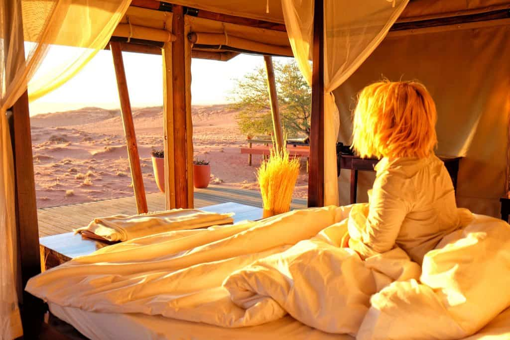 waking up in Namibia