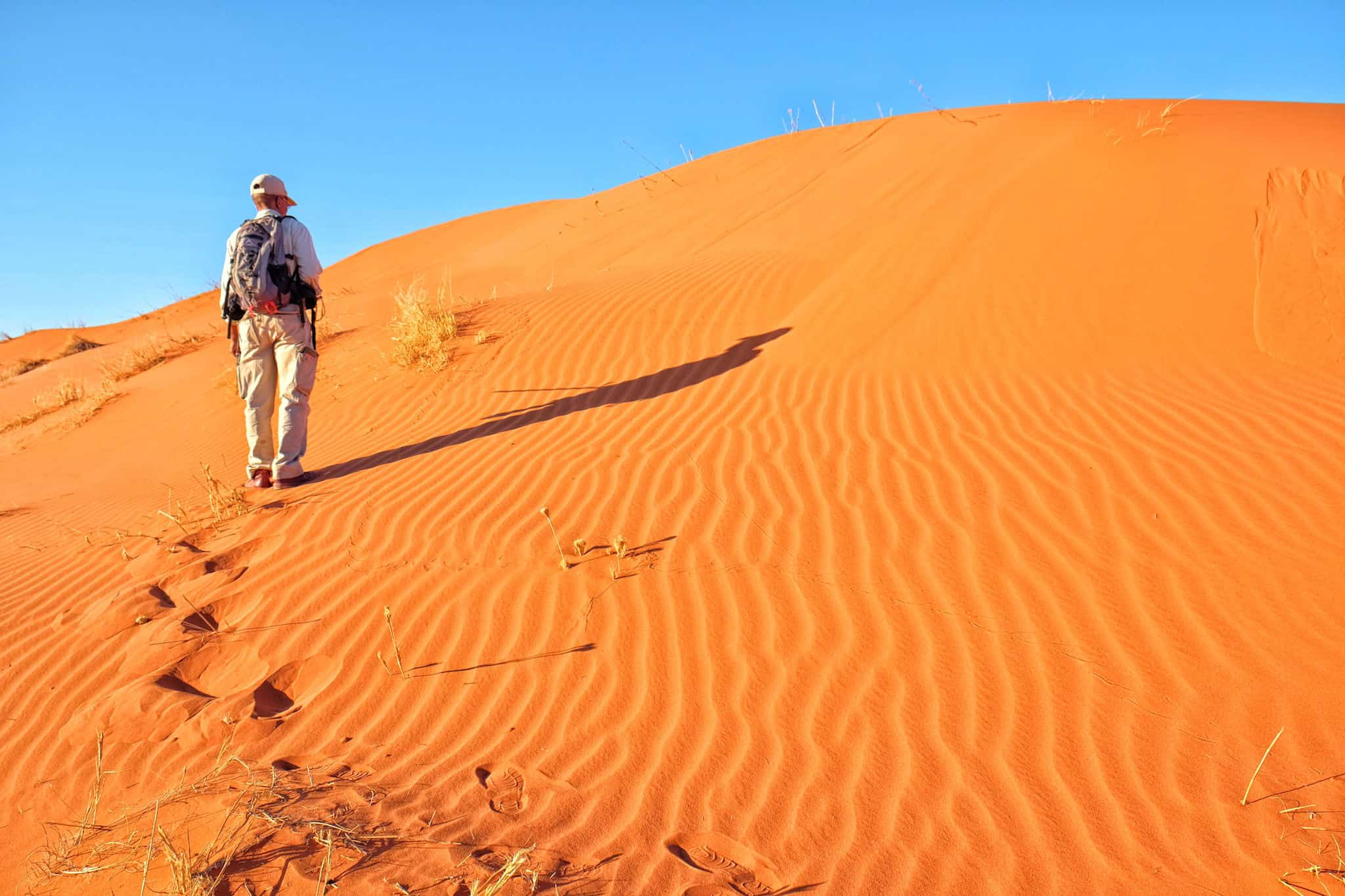 walking in Namibia