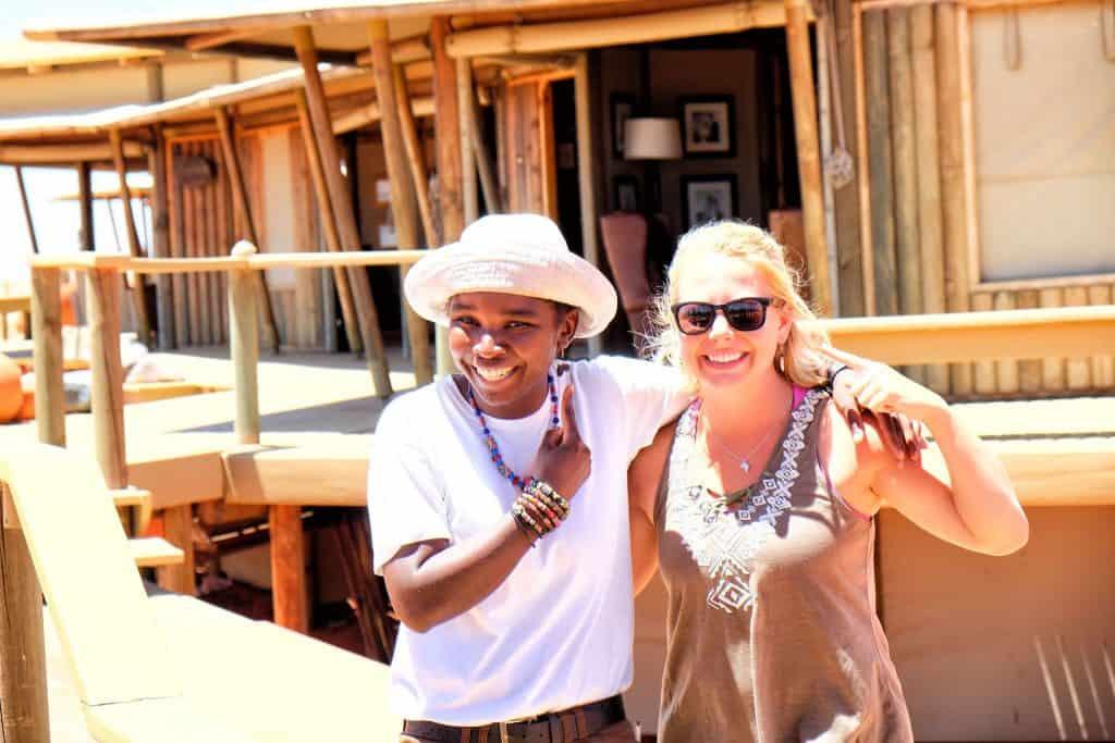 Selma and I at Dunes Lodge
