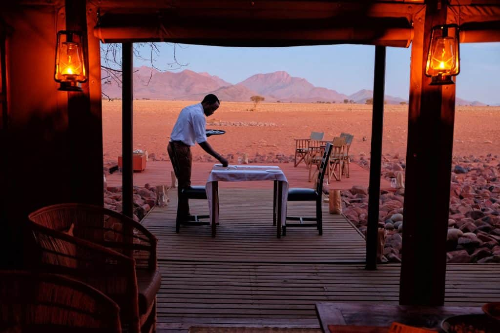 CAndlelight dinner in Namibia
