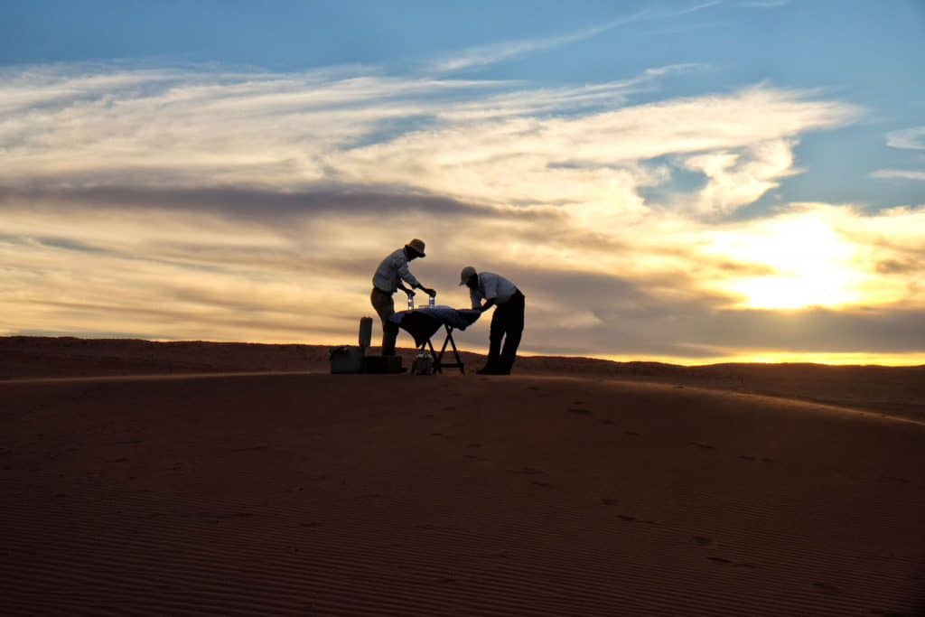 Sundowner time in Namibia