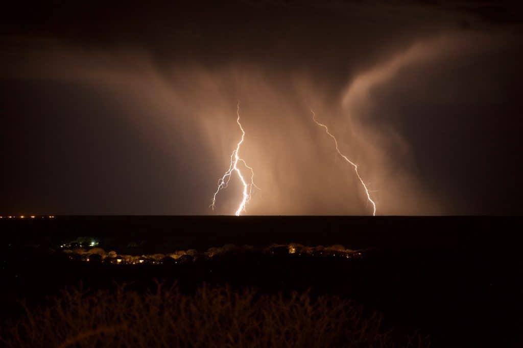 Rainstorm over Etosha