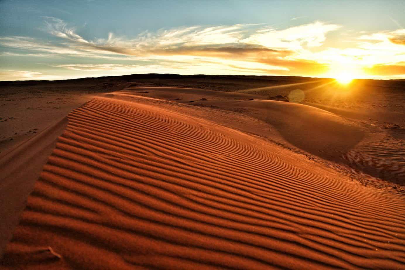 Sunsets over the desert
