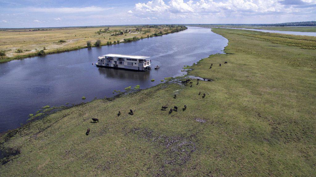 Zambezi Queen On The Chobe And Sedudu island