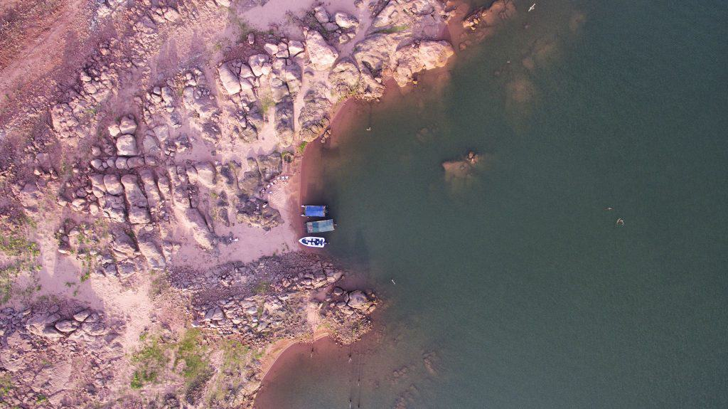 Drone over Lake Kariba