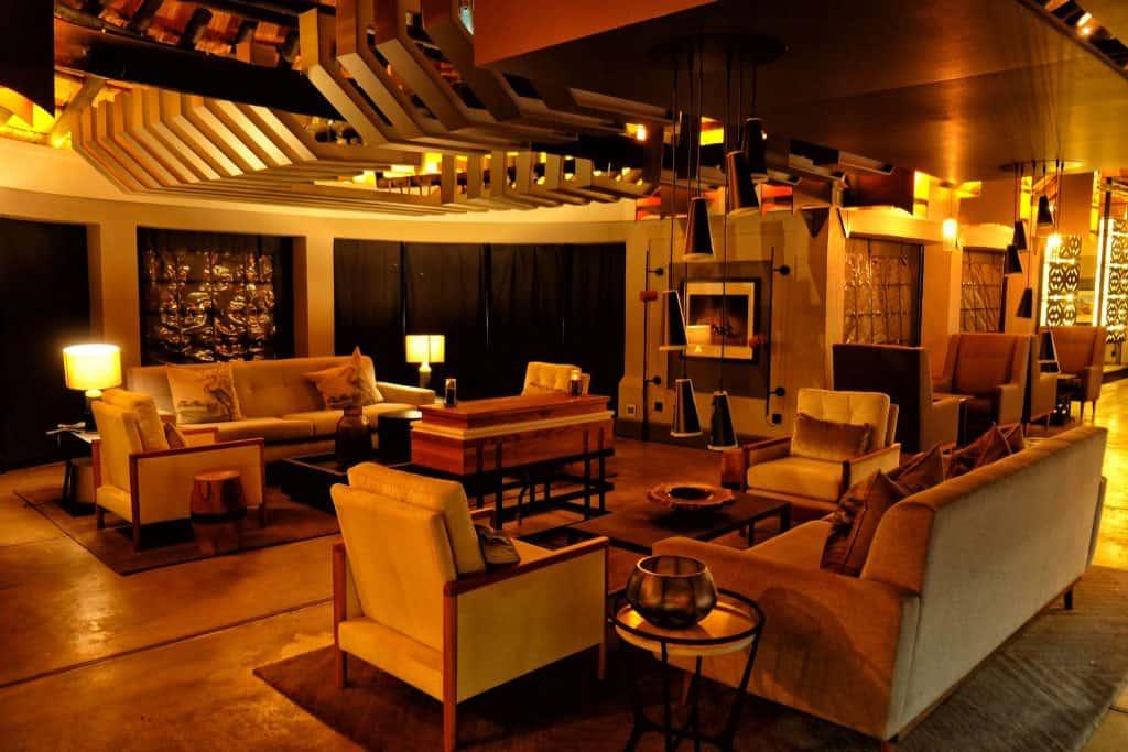 The lounge at chobe Water villas