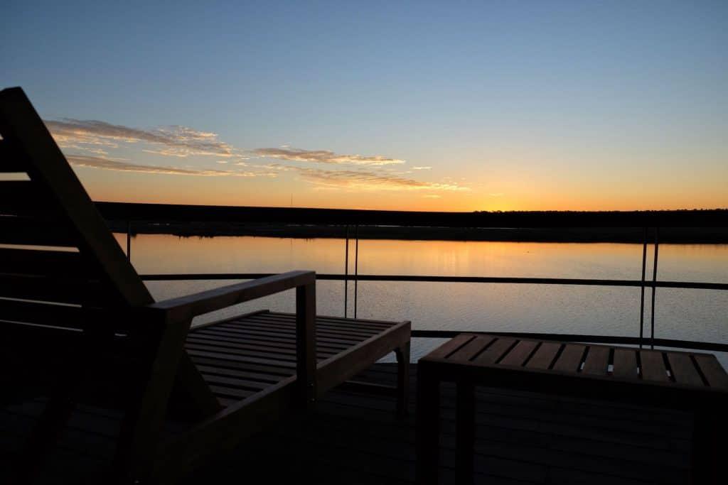 Sunrise at Chobe water Villas