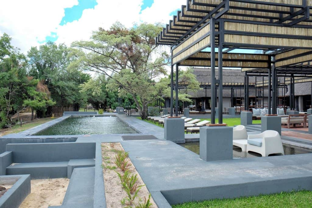 Pool area at Chobe Water Villas