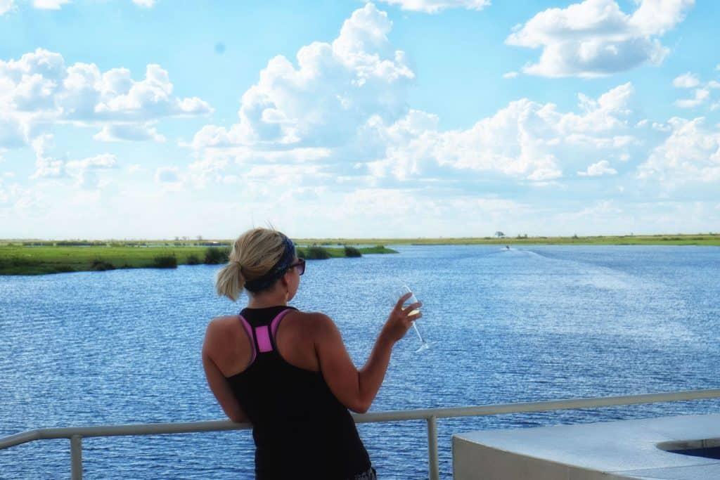 Wine on Chobe River